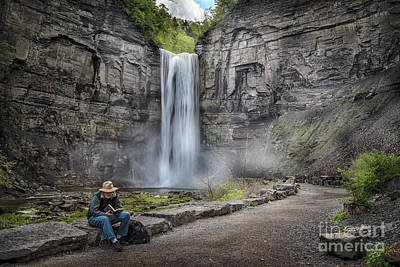 Photograph - Reading At The Falls by Joann Long