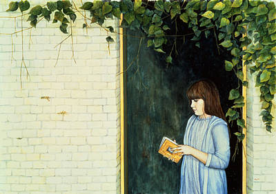 Engrossed Painting - Reading Girl by Ditz