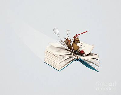 Digital Art - Reading Is An Adventure by Michael Ciccotello