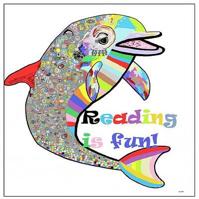 Fun Mixed Media - Reading Is Fun by Eloise Schneider