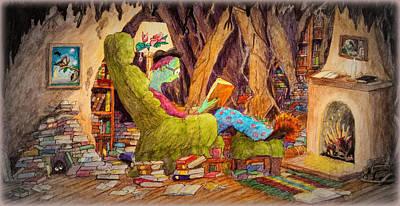 Painting - Reading Is Magic Pg 1 by Matt Konar