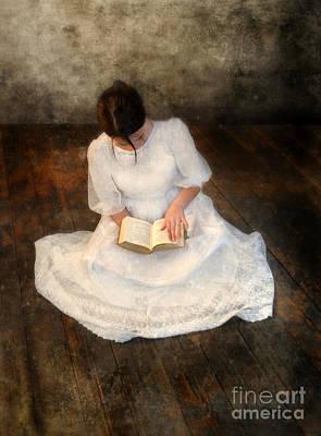 Reading  Art Print by Jill Battaglia