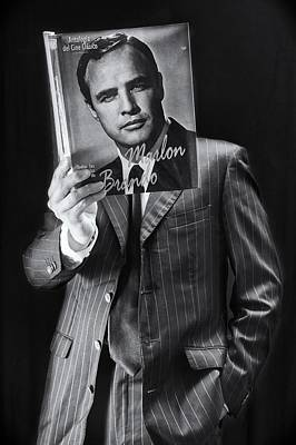 Marlon Photograph - Reading Like A Cinema Star by Kike Balenzategui