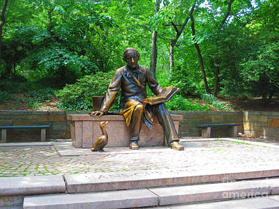 Painting - Reading Story To A Duck Statue At Central Park New York Usa Photo By Navinjoshi Fineartamerica by Navin Joshi