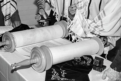 Judaica Photograph - Reading The Torah Scrolls by PhotoStock-Israel