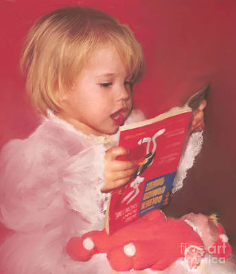 Reading To Her Baby Art Print by McKenzie Leopold
