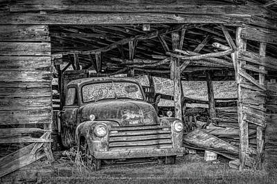 Photograph - Ready For A Ride Let's Roll In Black And White by Debra and Dave Vanderlaan