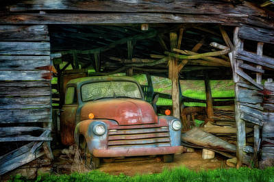 Photograph - Ready For A Ride Let's Roll In Glowing Color by Debra and Dave Vanderlaan