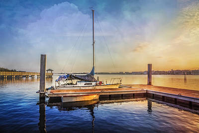 Ready For Sailing Art Print by Debra and Dave Vanderlaan