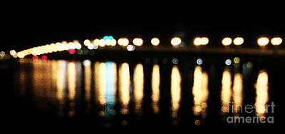 Photograph - Bridge Of Lions -  Old City Lights by LeeAnn Kendall