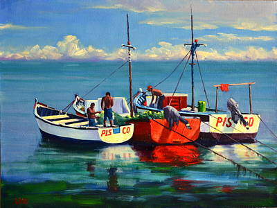 Painting - Ready For The Sea, Peru Impression by Ningning Li