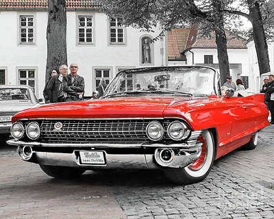 Photograph - Ready For The Show - 1961 Cadillac Deville by Gabriele Pomykaj