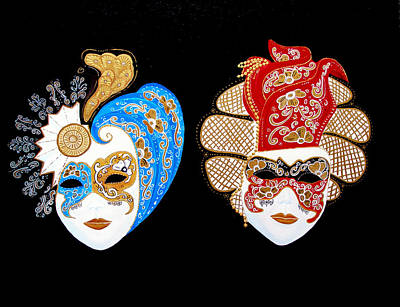 Painting - Ready For The Venice Carnival by JoeRay Kelley