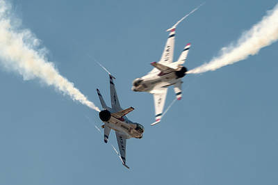 Opposing Forces Photograph - Ready Hit It by Jay Beckman