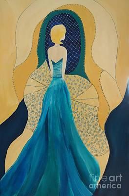 Evening Dress Mixed Media - Ready by Kat McClure