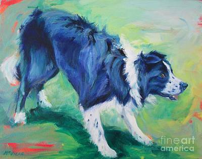 Painting - Ready To Fly - Border Collie by Lesley McVicar