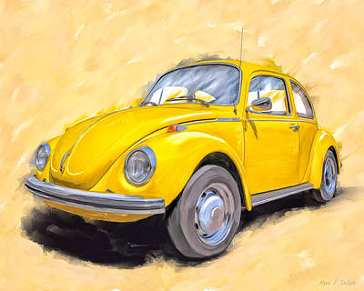 Mixed Media - Ready To Go - Vintage Bug by Mark Tisdale