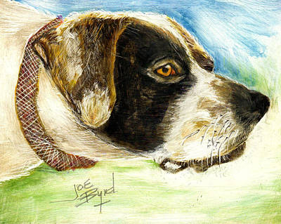 Setter Pointer Painting - Ready To Hunt by Joe Byrd
