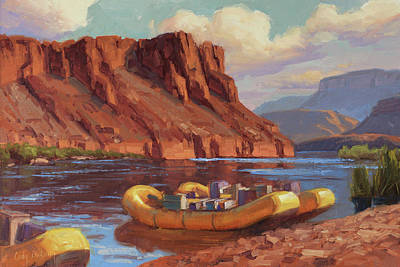 River Rafting Painting - Ready To Launch by Cody DeLong