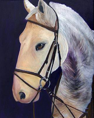 Animal Portrait Painting - Ready To Ride by Roger Wedegis