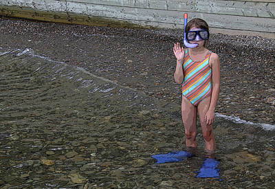 Ready To Snorkel Art Print by Frank Howie