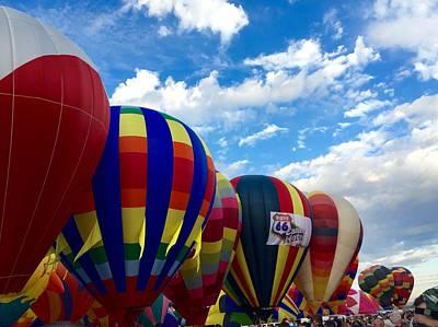 Photograph - Soar Albuquerque Balloon Festival by Anne Sands