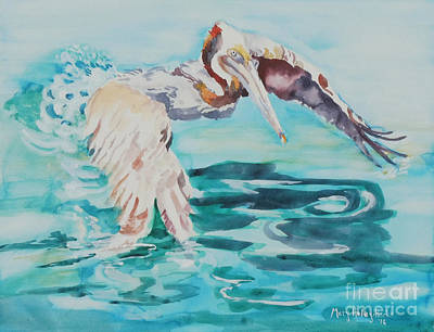 Art Print featuring the painting Ready To Take Off by Mary Haley-Rocks