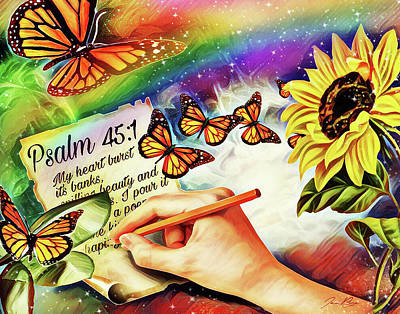 Digital Art - Ready Writer by Jennifer Page