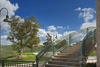 Photograph - Reagan Library Steps To Air Force One by David Zanzinger