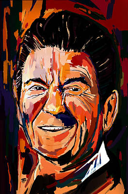 Painting - Reagan Revisited by John Jr Gholson