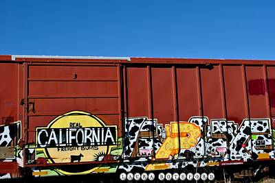 Train Digital Art - Real California Freight Bums  by Laura Botsford