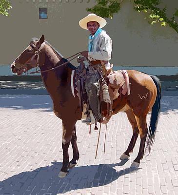 Digital Art - Real Cowboy by John Dyess