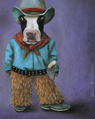 Art Print featuring the painting Real Cowboy by Leah Saulnier The Painting Maniac