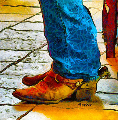 Photograph - Real Cowboy Real Cowboy Boots Real Spurs Abstract by Floyd Snyder