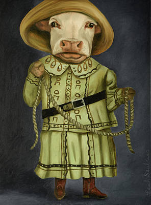 Art Print featuring the painting Real Cowgirl 2 by Leah Saulnier The Painting Maniac