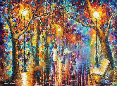 Real Dreams   Art Print by Leonid Afremov