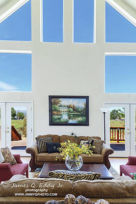 Photograph - Real Estate Living Room 1 by James Eddy