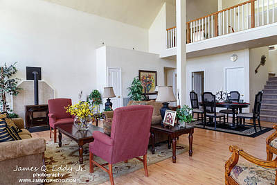 Photograph - Real Estate Living Room 3 by James Eddy