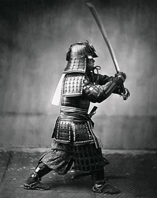 Swordsman Photograph - Real Last Samurai 1860 by Daniel Hagerman