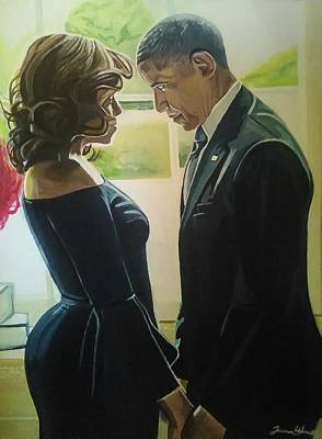 Barrack Obama Painting - Real Love by Jason Majiq Holmes