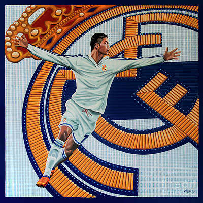 League Painting - Real Madrid Painting by Paul Meijering