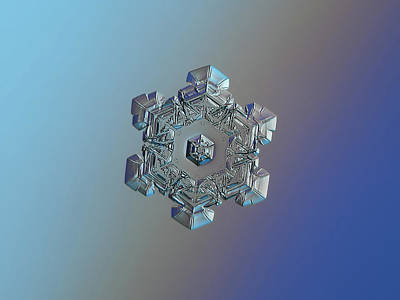 Photograph - Real Snowflake - 05-feb-2018 - 6 by Alexey Kljatov