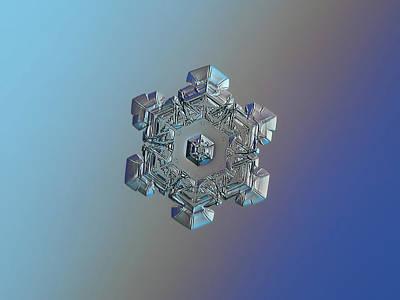 Photograph - Real Snowflake - 05-feb-2018 - 6 by Alexey Kljatov