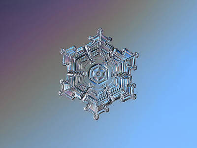 Photograph - Real Snowflake - 05-feb-2018 - 7 by Alexey Kljatov