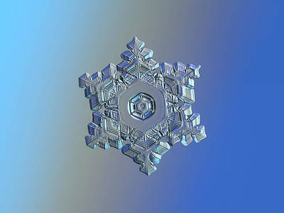 Photograph - Real Snowflake - 05-feb-2018 - 9 by Alexey Kljatov