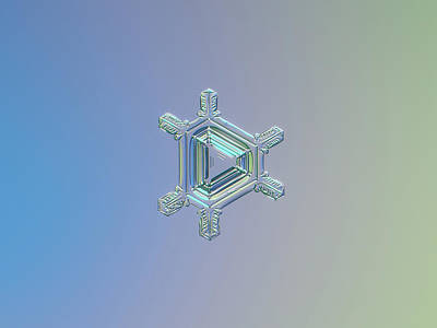 Photograph - Real Snowflake Photo - Emerald by Alexey Kljatov