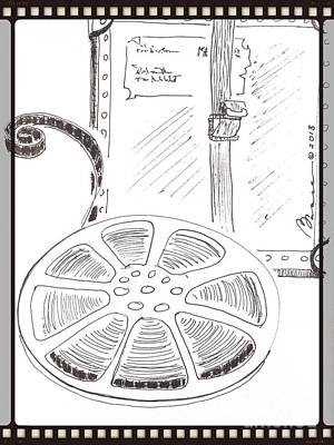 Old Time Spool Drawing - Real To Reel by Barbara Chase