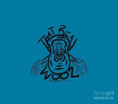 Digital Art - Real Wool Blue by Robert Watson