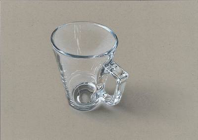 Realistic Drawing Of Glasscup Original by Sushant S Rane