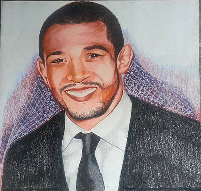 Ufc Drawing - Realistic Drawing Of Jose Aldo by Henry Maxwell